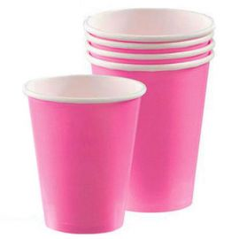 PAPER CUPS 266 ML 8 PK BRIGHT PINK