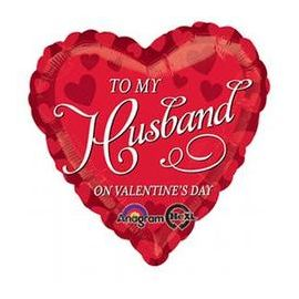 18 INCH TO MY HUSBAND ON VALENTINES DAY 026635276214