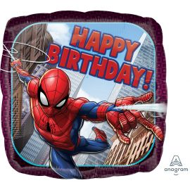 18 INCH SPIDERMAN  HAPPY BIRTHDAY