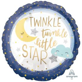 18 INCH TWINKLE LITTLE STAR SATIN