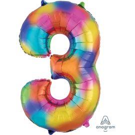34 INCH NUMBER 3 RAINBOW SPLASH