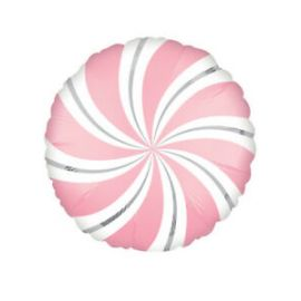 18 INCH SATIN INFUSED BUBBLEGUM CANDY SWIRLS BALLO