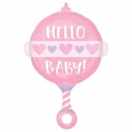 18 INCH BABY GIRL RATTLE