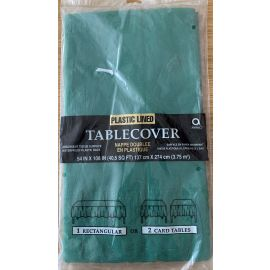 54 INCH X 108 INCH TABLECOVER PLASTIC GREEN