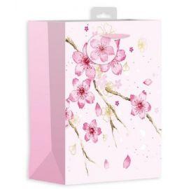MEDIUM GIFT BAG ORIENTAL FLOWER PK OF 6