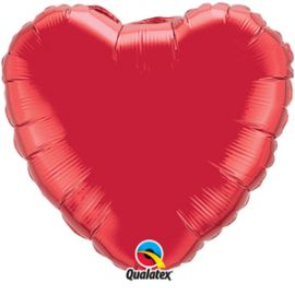 36 INCH HEART RUBY RED BALLOON