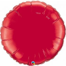 36 INCH ROUND RUBY RED