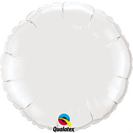 WHITE 18 INCH ROUND BALLOON