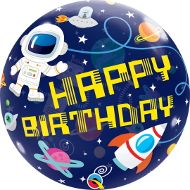 22 INCH BIRTHDAY OUTER SPACE BUBBLE