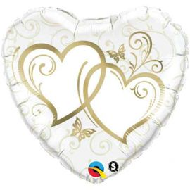 18 INCH ENTWINED HEARTS GOLD
