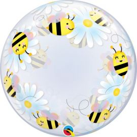 24 INCH DECO BUBBLE SWEET BEES & DAISIES - 15733 071444157339