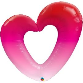 42 INCH PINK OMBRE HEART 16650
