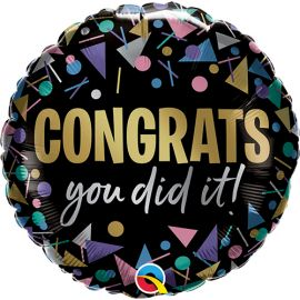 18 INCH CONGRATS YOU DID IT FOIL BALLOON 17490