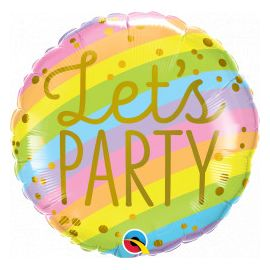 18 INCH LETS PARTY OMBRE BALLOON 17512