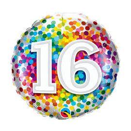 18 INCH AGE 16 RAINBOW CONFETTI 18892