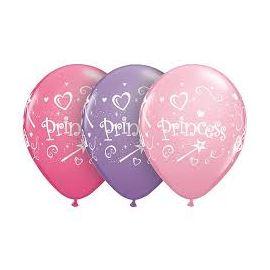 11 INCH PRINCESS PINK BALLOONS 25CT