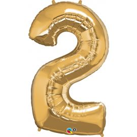 34 INCH GOLD NUMBER 2 BALLOON