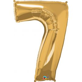 34 INCH GOLD NUMBER 7 BALLOON