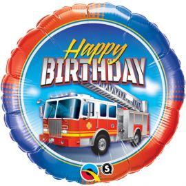 18 INCH HAPPY BIRTHDAY FIRE TRUCK