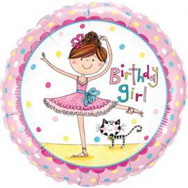 18 INCH BDAY GIRL BALLERINA