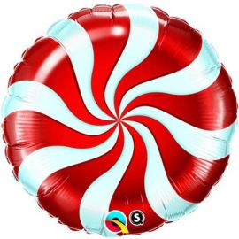 9 INCH AIR FILL CANDY SWIRL RED 50989