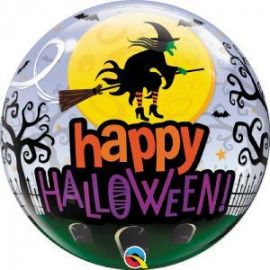 22 INCH HAPPY HALLOWEEN WITCH BUBBLE