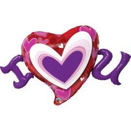 46 INCH I(HEART) U RADIANT HEARTS 54894