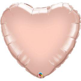 36 INCH ROSE GOLD HEART FOIL BALLOON