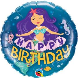 18 INCH FOIL HAPPY BIRTHDAY MERMAID