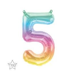 16 INCH JELLI PASTEL OMBRE NUMBER 5 FOIL