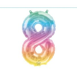 16 INCH JELLI PASTEL OMBRE NUMBER 8 FOIL