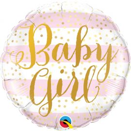 18 INCH BABY GIRL PINK STRIPES