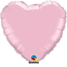 BABY PINK 18 INCH HEART BALLOON