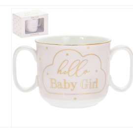 MAD DOTS HELLO BABY GIRL MUG