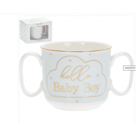 MAD DOTS HELLO BABY BOY MUG