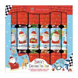 SANTAS CHRISTMAS TREE RACE GAME CRACKERS PACK 6