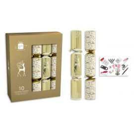 CRACKERS 10X14 INCH CREAM & GOLD PK OF 10
