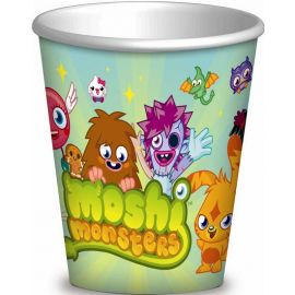 PAPER CUPS 266 ML 8 PK MOISHI MONSTERS
