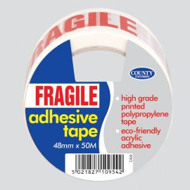 FRAGILE ADHESIVE TAPE PK OF 6