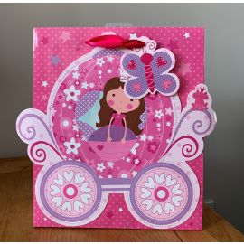 MEDIUM GIFT BAG PRINCESS CARRIAGE