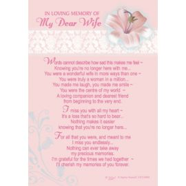 LOVING MEMORY DEAR WIFE KEEPSAKE MEDIUM X6