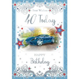 BEST WISHES 40 TODAY