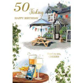 50 TODAY HAPPY BIRTHDAY