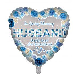 18 INCH HEART IN LOVING MEMORY HUSBAND
