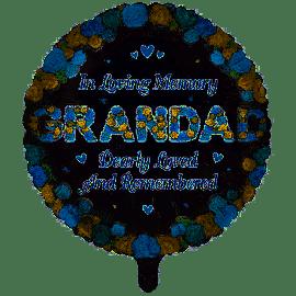 18 INCH ROUND IN LOVING MEMORY GRANDDAD