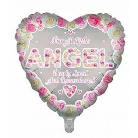 18 INCH HEART FOR A LITTLE ANGEL PINK