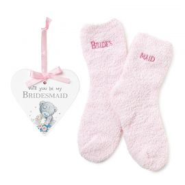 BRIDESMAID PLAQUE AND SOCK SET