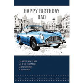 BIRTHDAY DAD BLUE SPORTS CAR