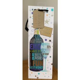 BOTTLE BAG BEST WISHES HAVE FUN PK OF 6