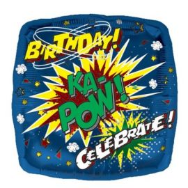 18 INCH HAPPY BIRTHDAY KA-POW